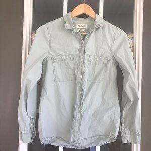 Madewell button down double breast pocket